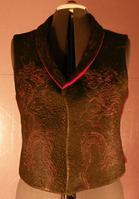 quilted garment vest dragon chinese lions